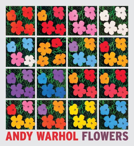 Andy Warhol Flowers book